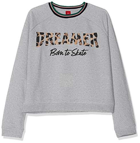 s.Oliver Mädchen 66.908.41.2712 Sweatshirt, Grau (Grey Melange 9400), 152 (Herstellergröße: M/REG)