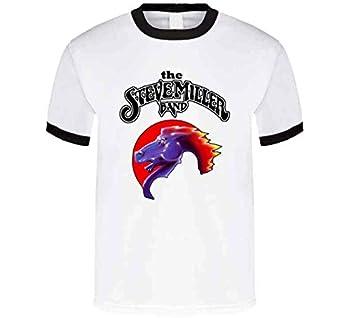 The Steve Miller_Band T Shirt M Black Ringer
