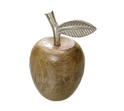 GILDE Apfel Natur Alu-Blatt/Stengel Höhe 14 cm
