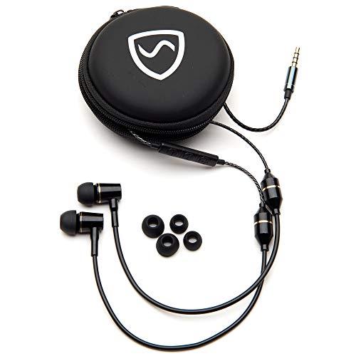 SYB Anti-Strahlung-Kopfhörer (Schwarz, mit Etui)