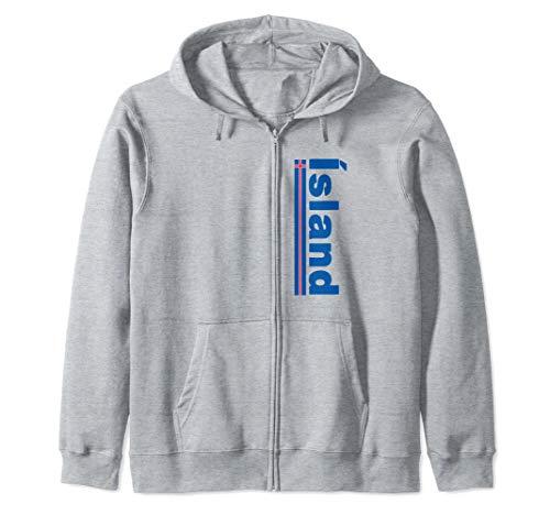 Iceland Soccer Jersey Shirt Icelandic National Flag Pride Zip Hoodie