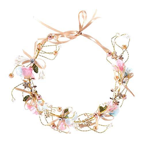 joyMerit Blumenkranz, Blumen Stirnband Blumenkrone Haarkranz Hawaii Haarband für Damen Mädchen Braut Brautbrautjungfern