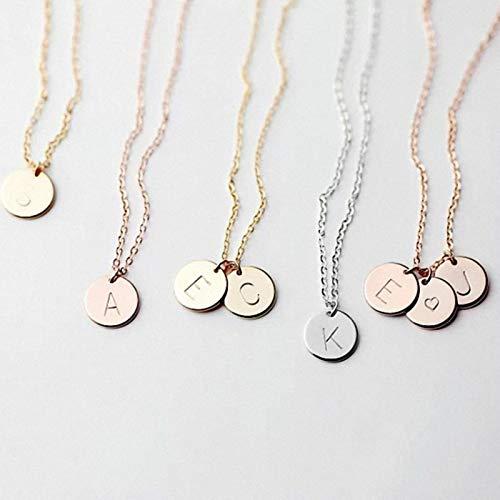 CXWK Pequeño Collar con Inicial de Oro, Collar con Letras Doradas, Gargantilla con Nombre, Collar para Mujeres y niñas, cumpleaños de 45 cm