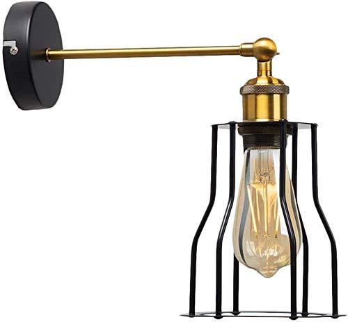 Lámpara industrial, Luz de pared de la vendimia - Lámpara de pared ajustable de la pared de la pared del alambre de metal para la lámpara de pared industrial para la sala de estar de la isla Dormitori