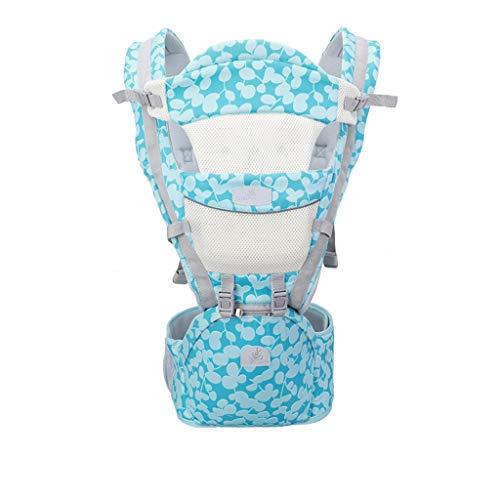 YQ&TL Porte bébé Porte-bébé 0-36 Mois Sangles pour bébé Multi-Fonctions pour Enfants Baby Doll Artifact Mère et bébé Cross Hug Chaise Haute pour bébé, Bleu