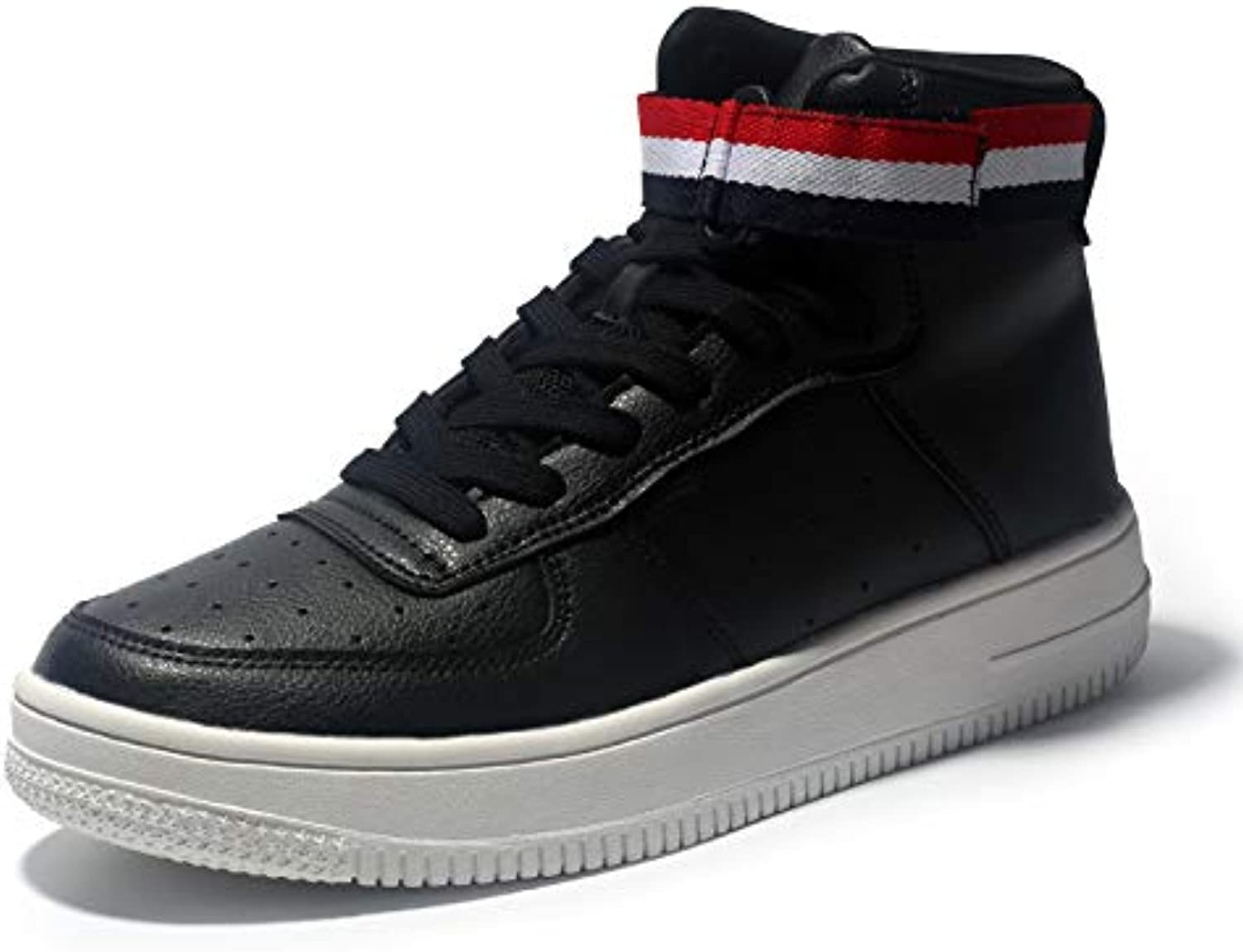 LOVDRAM Men's shoes Spring New Men'S Extra Large Code shoes Students White shoes High To Help Casual Sports shoes Men'S shoes