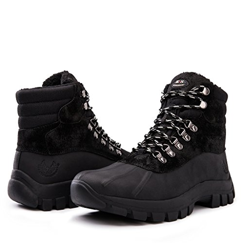 kingshow Men's 1705 Black Snow Boots 9 US