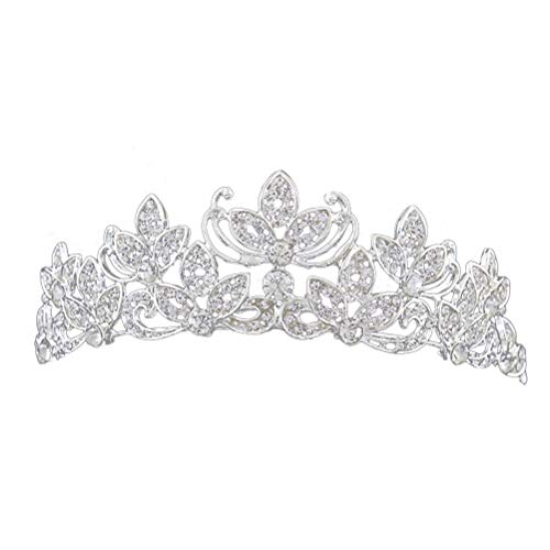 Lurrose Mode Exquisite Perle Tiara Kronen bodas novia Princess Crowns joyas novia...