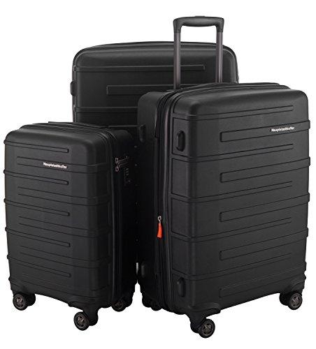 Hauptstadtkoffer Set di valigie Nero Set Set