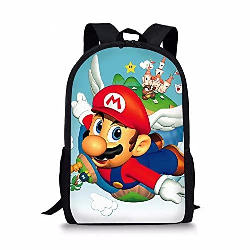 Super Mario School Bag Fashion Baby Boys Girls Kids School Bags 3D Book Bag Mario VS Sonic Printing Cartoon Backpack Toddler Anime Children Backpacks