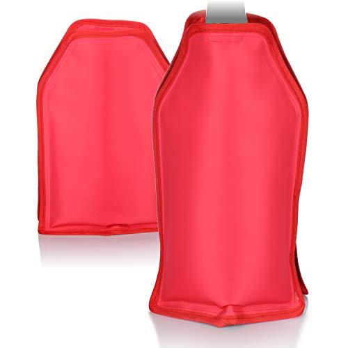 com-four® 2X Flaschenkühler für unterwegs - Weinkühler Manschette - Kühlmanschette zum Kühlen von Bier-, Sekt-, Wein-, Wasser- und Softdrinkflaschen (Rot)