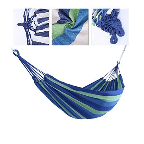 Hangmat voor buiten - Extra lang 1-persoons draagbaar hangbed voor binnen- of buitenruimtes - Hangtouw, Inclusief draagtas