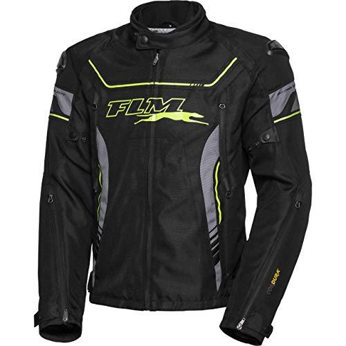 FLM Motorradjacke mit Protektoren Motorrad Jacke Sport Textiljacke 2.1 grau/schwarz XXL, Herren, Sportler, Ganzjährig