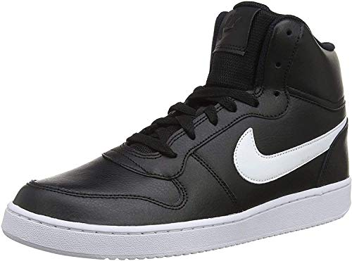 Nike Ebernon Mid, Baskets Hautes Homme, Noir Blanc, Numeric_43 EU