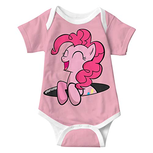 P-ink_ie P-ie laughing Baby Bodysuits Short-Sleeve Jumpsuits Cute Stretchy Rompers for Unisex Infants 6M
