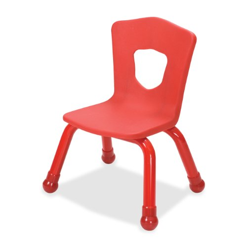 Balt Kids Chair with Steel Frame, 13-1/2-Inch, Red