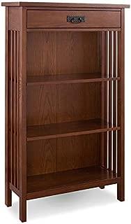 Leick Riley Holliday 3 Shelf Bookcase in Mission Oak