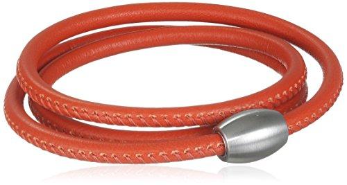Xen Damen-Armband 3 Fach gewickelt Edelstahl Leder 59.0 cm - 51603137G2