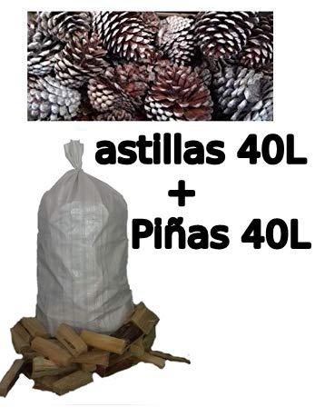Viveros Horizon Forestal Astillas de Pino 40 litros más Piñas secas 40 litros