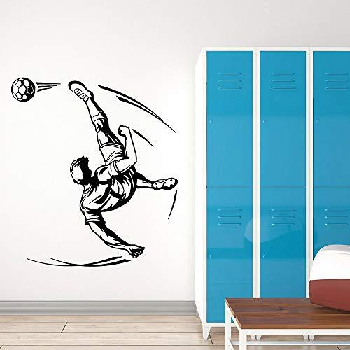 Tianpengyuanshuai Aficionado a los Deportes Partido Etiqueta de la Pared Sala de fútbol Jugador Juego de Pelota Vinilo Pared calcomanía decoración 50X51 cm