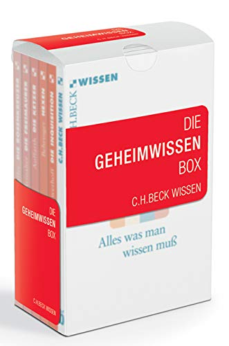 Die Geheimwissen Box: Enthält: 2133 Reinalter, Die Freimaurer; 2023 Edighoffer, Die Rosenkreuzer; 2383 Auffarth, Die Ketzer; 2082 Behringer, Hexen; 2340 Schwerhoff, Die Inquisition