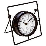 Atmosphera Pendule Horloge à Poser - Style rétro - Coloris Noir