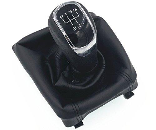 L/&P A099-1 Funda saco cuero de 100/% real piel genuina negro perforado con costura negra de palanca de cambios cambio velocidad velocidades marchas saco de conmutaci/ón y freno de mano estacionamiento