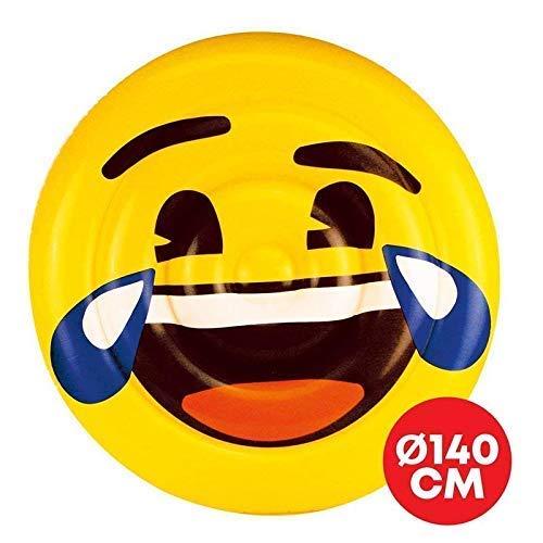 Lively Moments Badeinsel / Luftmatratze / Schwimminsel Emoji Lachend mit Tränen / Smiley LOL / Emoticon