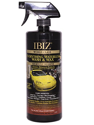 32 Ounce Waterless Car Wash and Wax - Best Value - Made in USA of Non-Hazardous Materials. Clean, Polish and Protect Your Car, SUV, Truck, Boat or RV. for Over 50 Years, It's As Easy As IBIZ.