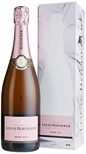Louis Roederer Champagne Brut Rosé 2014 in Champagner Grafik-Geschenkpackung (1 x 0.75 l)