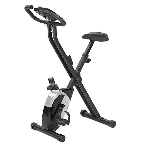 maxVitalis Fitnessbike für gelenkschonendes Cardiotraining | Platzsparend klappbar, Transportrollen, 5 kg Schwungmasse, mit 21 Trainingprogrammen, Belastbar bis 100 kg