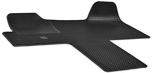 Alfombras de goma Walser a medida compatibles con Citroen Jumper/Peugeot Boxer/Fiat Ducato ano de construcción 2006 - Hoy en día, alfombras de goma, alfombras Transporter, alfombras antideslizantes