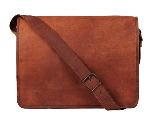 Rustic Town 13 inch Vintage Crossbody Genuine Leather Laptop Messenger Bag (For 13.3 inch Laptops)