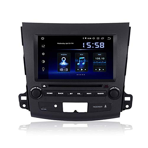 Reproductor multimedia para automóvil de 8 'Android 9.0 2 Din Estéreo para automóvil para Mitsubishi Outlander 2007 2008 2009 2010 2011 bluetooth Radio para automóvil DSP 4G RAM 64G Soporte GPS Wifi