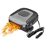 drtulz Car Heater, 12V 150W Car Heater 2 in 1 Heating Fan Defroster Demister Car Amplifier Cooling Fans Automotive Replacement Heater for Car SUV Truck Rv Trailer