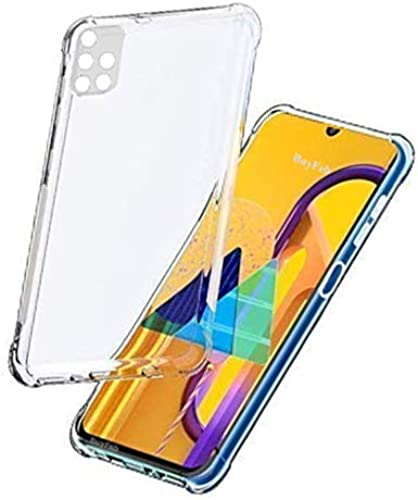 BuyFeb Silicone Back Cover Compatible for Samsung Galaxy M51 Transparent Camera Protective
