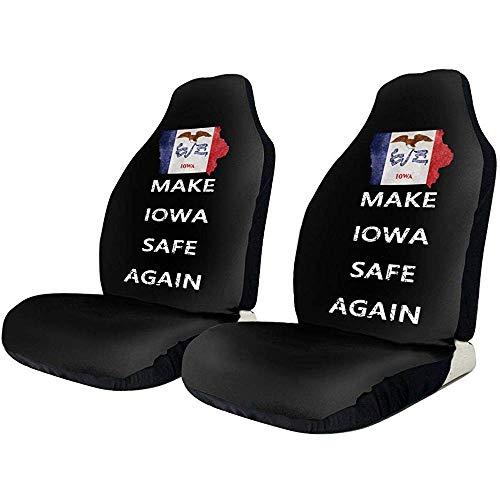 Joe-shop Rendi Sicuro De Iowa van rekbaar polyester voor stoelhoezen met 3D-print, universeel