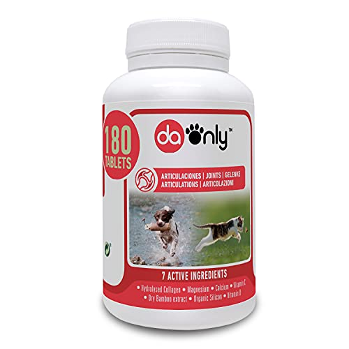 DAONLY collagene Naturale antinfiammatorio per Cani e Gatti | 180 compresse | Integratori per articolazioni e condroprotettori (Compresse, 180)
