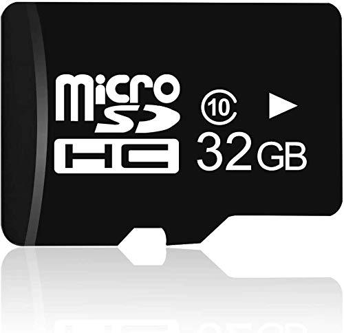 Scheda di Memoria Micro SD 32 GB, Scheda micro SD Flash ad Alta Velocità da 90 MB/s, C10, Video Full HD V10, Scheda Flash FAT32 per Telefono, Telecamera, PC, Altoparlante