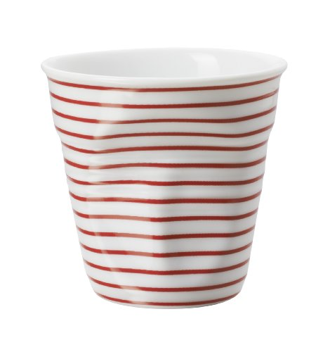 Revol Gobelet Froissé Espresso en Porcelaine 8 Cl Rouge / Blanc, Tasse à Café Expresso, RV646086