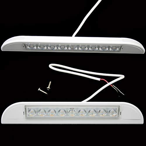 12 Volt LED Außenlampe Tür warmweiß Wohnwagen Wohnmobil Caravan Boot 231 mm