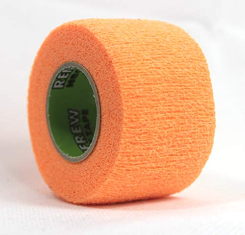Renfrew Stretch Grip Hockey-Tape, 38mm Griptape für Eishockey (orange), 5,50 m