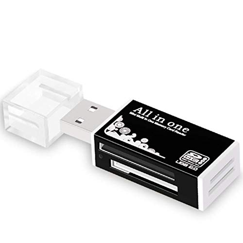 Lector Tarjetas Micro SD SD USB 2.0 para MicroSD,SD,Mini SDHC,TF,MS Duo,CF,MS Micro(M2),MS Pro,MINISD,ms Pro Duo,SDHC (Negro)