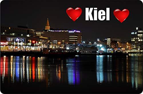 Cadora Magnetschild Kühlschrankmagnet I Love Kiel I