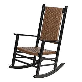 Chaise à Bascule Extra Large en rotin pour Adultes Lourds, Grands fauteuils à Bascule d'extérieur pour Porche, terrasse…
