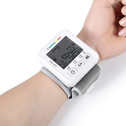 DFFFGGX Presión Arterial SmartHeart muñeca Monitor, medidor de BP Digital con Gran Pantalla, la máquina BP Digital automático con una Amplia Gama-Manguito for el Uso casero, función de Habla
