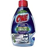 ONE | CURA LAVASTOVIGLIE BIFASICO | Permette di pulire da grasso, dai residui di calcare e di cibo la tua lavastoviglie | Allunga la vita della tua lavapiatti | Pulizia a basso impatto ambientale