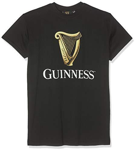 Guinness Herren BLK Guin HARP R/N T T-Shirt, Schwarz (Black Black), XXL