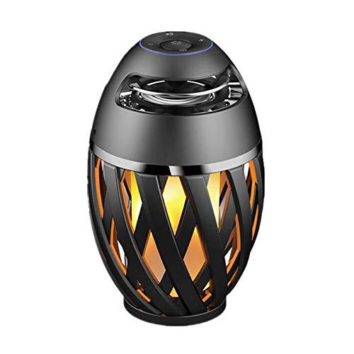 Tragbare Bluetooth-Lautsprecher, Flamme Leuchten Außen Portablesuitable für Cafe Bar im Freien Ambient Light LED