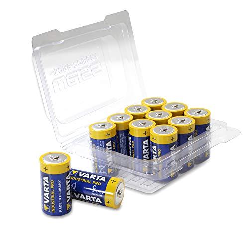 Varta 4014 Baby/C/LR14/MN1400 Industrial PRO Alkaline Batterien in Wiederverschließbarer Box von WEISS - more power + [12er-Pack]